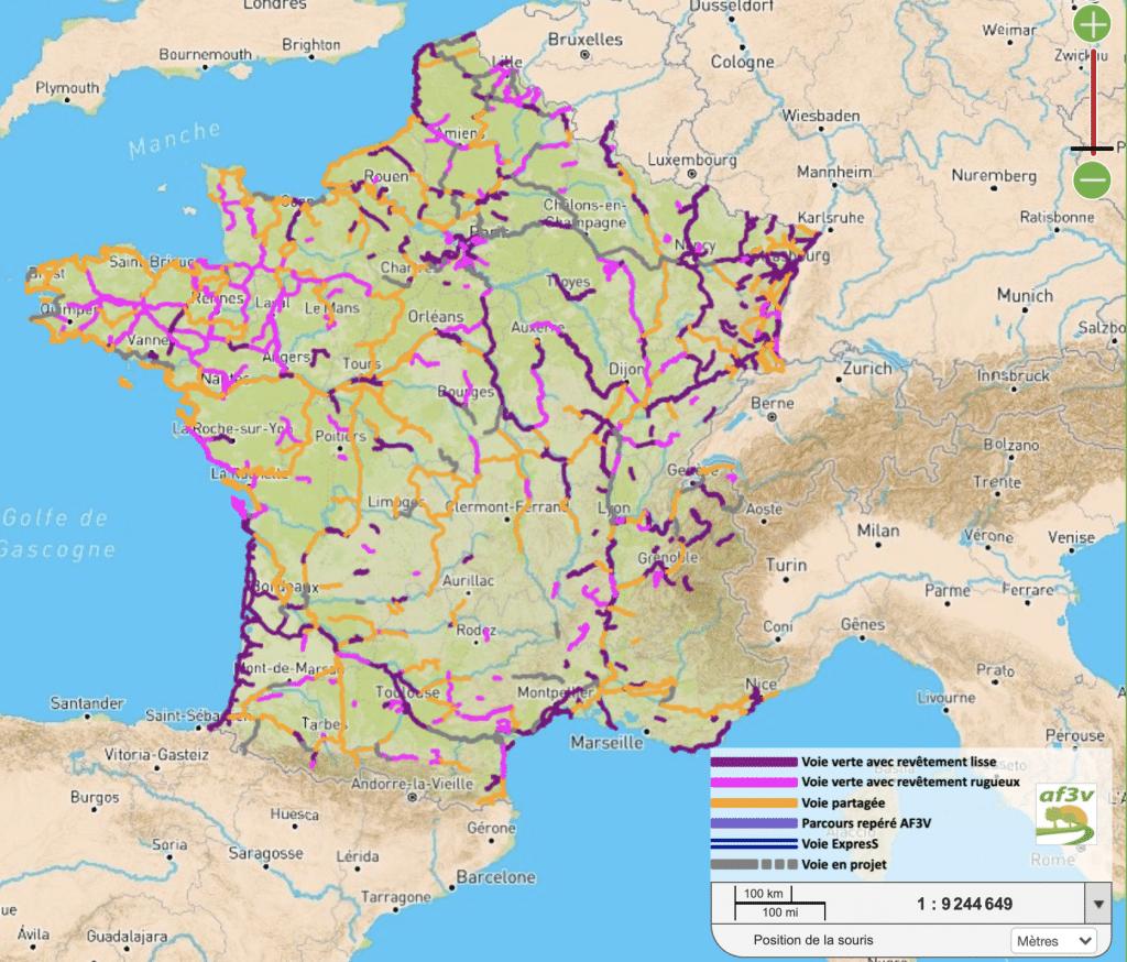 Carte nationale interactive veloroute